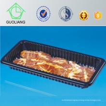 Bandeja de carne plástica descartável com almofada absorvente