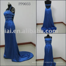 PP0033 2010 Strapless Blue Evening Dress