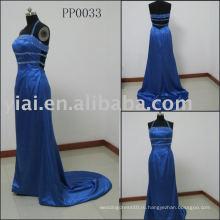PP0033 2010 без бретелек синий вечернее платье
