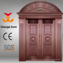 Portas de cobre de luxo para casas de frente