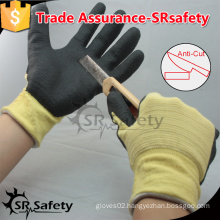 SRSAFETY 13G knitted liner coated nitrile anti-cut safety working gloves