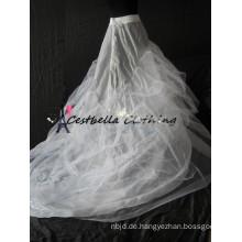 weißer langer Zug Petticoat für Meerjungfrau Kleid, Abendkleid