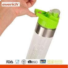 Private Label BPA Botella de Fruta de Infusión de Plástico con Tapa de Mango