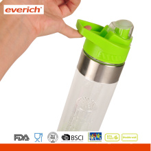 Private Label BPA Free Plastic Infuser Fruteira com tampa de alça