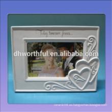Marco de foto de cerámica personalizado con logotipo para la decoración del hogar