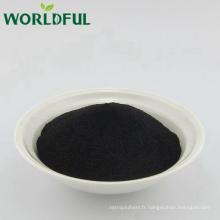 Acide humique de rendement élevé dans l'agriculture, poudre acide humique, acide humique organique d'engrais de Leonardite / Lignite