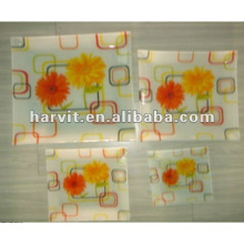 """12""""Square glass dinner plate"""