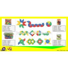 JQ1019 escuela no tóxicos y casa rompecabezas de plástico juguetes bloques de construcción