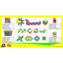 JQ1019 non-toxic school and home plastic puzzle toy building blocks