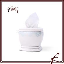 Caja de papel decorativo cuadrado de papel de seda
