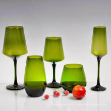 Colorful Champagne Flutes Wholesale Glass Water Goblets for Wine