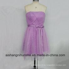 Graduierung Kleid Sexy Dark Purple Short Enges Abendkleid