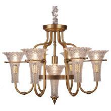 Освещение металлической люстры, Металлическое кузовное стекло, Стеклоткани, 6 ламп (SL2238-6 + 1)
