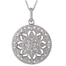 925 Silver Cubic Zirconia Pendants Jewelry for Women