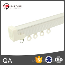 one cover aluminum curtain track with plastic runners