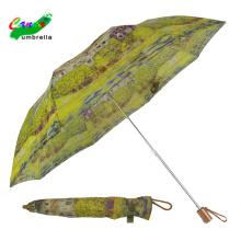 Frau zwei klappbare japanische Vintage Regenschirm