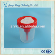 Copo descartável de urina estéril com agulha
