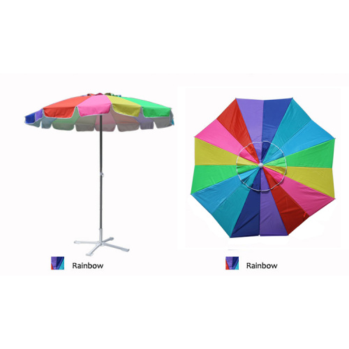 Parasol de playa multicolor al por mayor del patio del arco iris