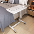 Meja Laptop Bergulir Keranjang Meja Mobile Adjustable Stand
