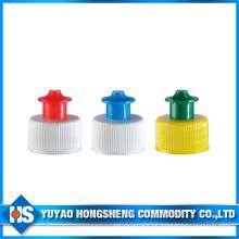 China Lieferanten Kunststoff Wasser Flasche Cap Push Pull