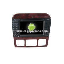 NOUVEAU! Dvd de voiture avec lien miroir / DVR / TPMS / OBD2 pour 7 pouces écran capacitif 4.4 Android système BENZ S CLASS
