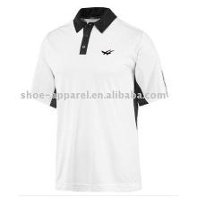 popular white/black men sports Tennis polo Shirt