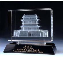 Grau de imagem 3D de cristal de alta qualidade K9 modelo de construção de vidro
