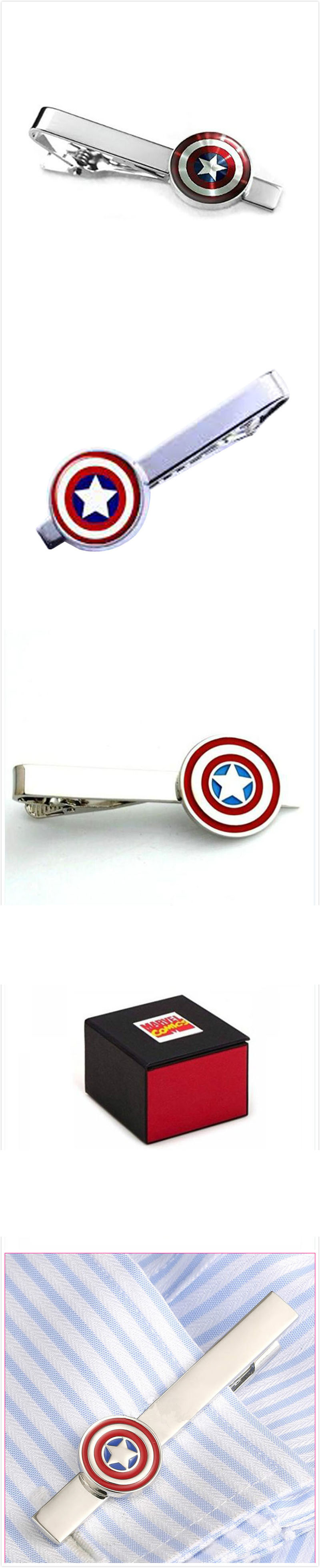 Captain America Men's Tie Bar Clip