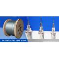 El alambre de acero de alta calidad trenzó 7 / 0.8mm para hacer el cable óptico