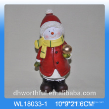 Christmas gift ceramic ornament in snowman shape