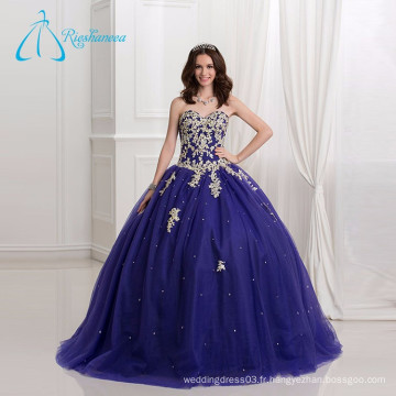 2017 Lace Appliques Sequined Beading Ball Gown Quinceanera Robes