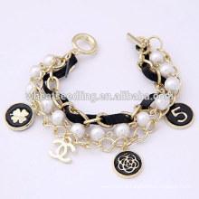 Bracelet en trèfle multicolore en perles à allumettes à allumettes