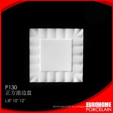 productos únicos 2016 de blanco de china placa del cuadrado