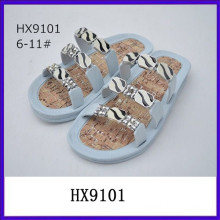Slip on rhinestone designer sandal fancy lady sandal low price ladies sandals
