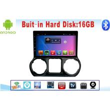 Reproductor de DVD de coche Sistema de Android para Wrangler 10.1 pulgadas con navegación GPS