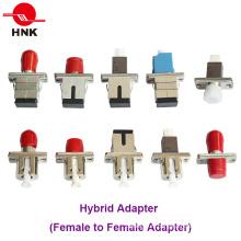 Adaptateur fibre optique hybride duplex LC Sc St FC Mu Simplex / Duplex