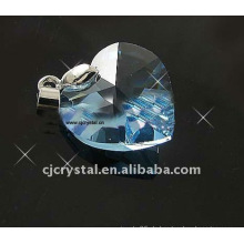 18mm Ozean Herz Kristall Anhänger