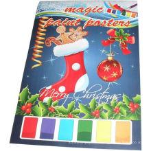2015 niños de Navidad pintando carteles de magia