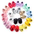 19 color bowknot borlas zapatos de bebé niño suela suave mocasines infantil