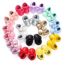 19 Farbe Bowknot Quasten Baby Schuhe Kleinkind weiche Sohle Mokassins Infant