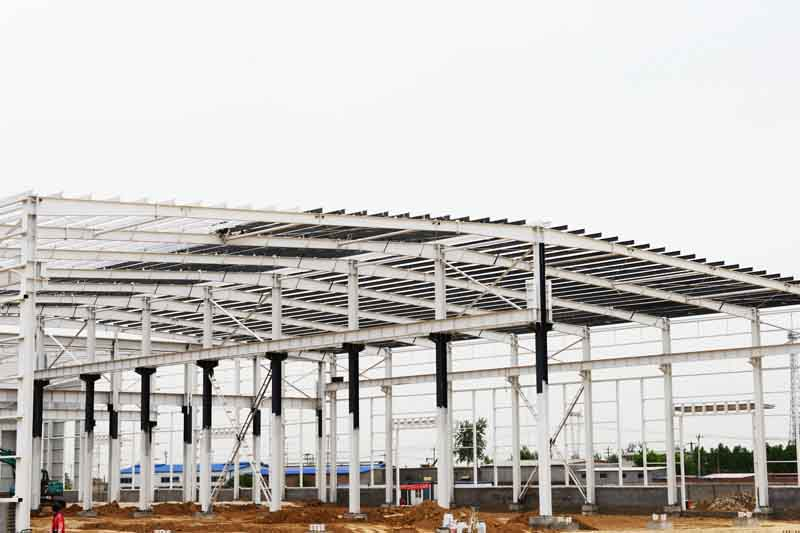 Large span steel structure warehouse construction design