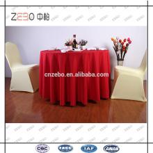 """100% Polyester Plain Woven Fabric 120 """"Runde Tischdecken für Hochzeit"""