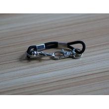 wholesale simple black rubber lace with snap hook bracelet