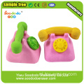 Old Pink Telefoon Rubber Shaped Eraser briefpapier