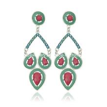 Trendy Bohemia Style Resin Stone Earring (XER13093)