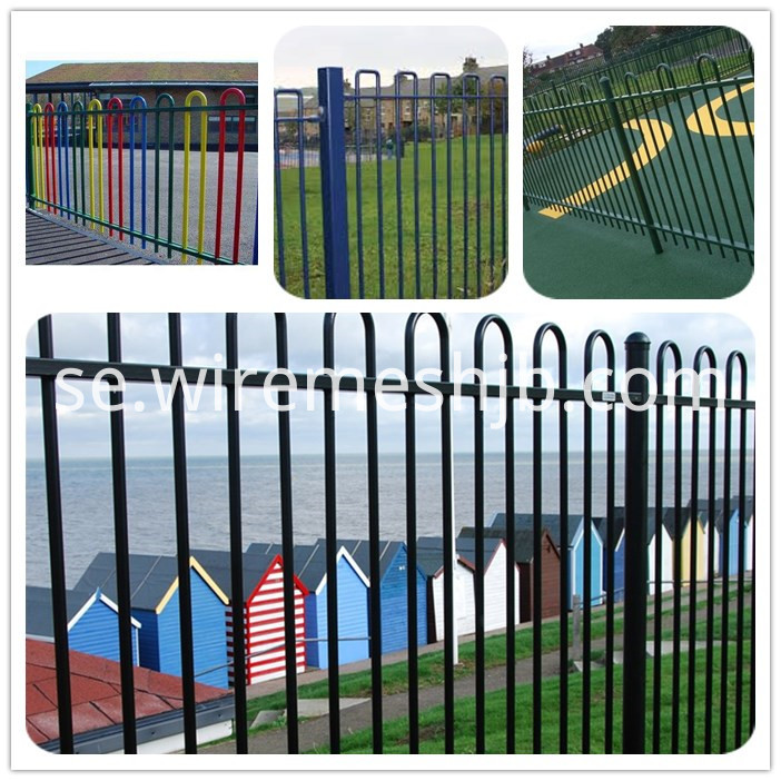 pvc sparying bow top fence