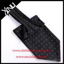 Corbata y corbata tejidas seda hechas a mano de Ascot del lunar 100%