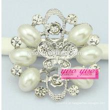 Broche de diamante de borboleta flor de moda