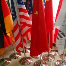 Tipos diferentes de bandeiras da mesa / bandeira de madeira Pólo e bandeira da tabela do carrinho