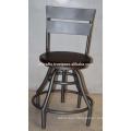 vintage industrial stool swivel stool mango wood round seat
